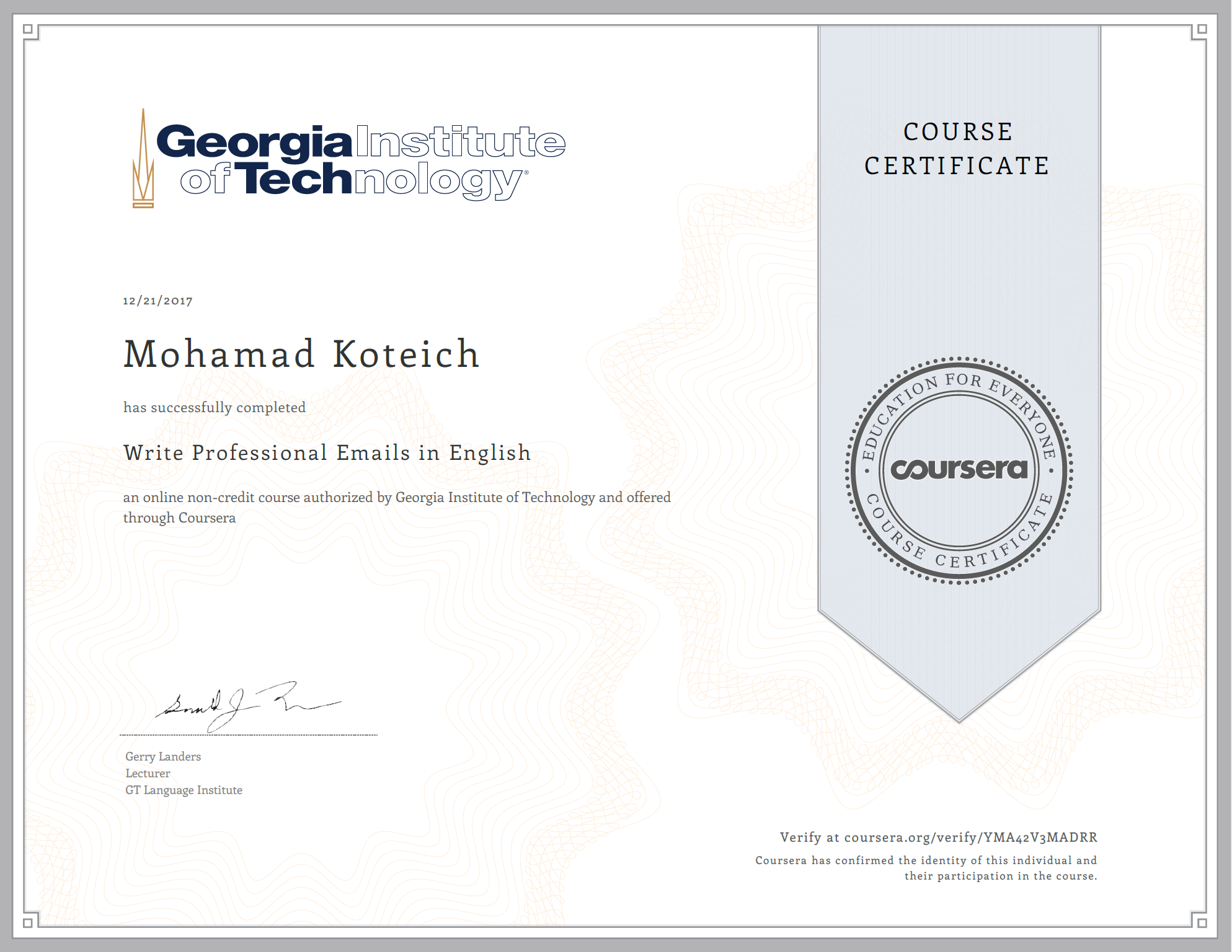 Write Professional Emails in English – Georgia Tech